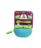 B.Box Travel Bib & Silicone Spoon-Dino Time