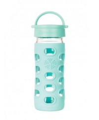 Life Factory 12 oz Glass Bottle with Classic Cap and Silicone Sleeve