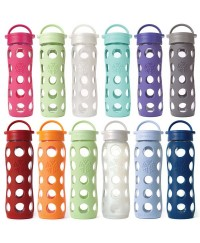 Life Factory 22 oz Glass Bottle with Flip Cap and Silicone Sleeve