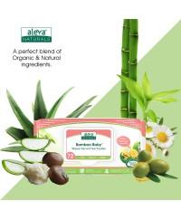 Aleva Naturals Bamboo Sensitive Wipes - 72pcs
