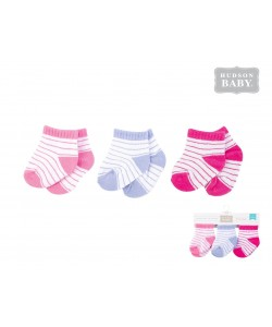Luvable friends Baby No Show Socks Pink 3pk