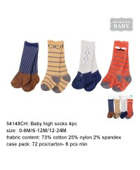 Luvable friends Animal Baby High Socks Handsome Fox 4pk