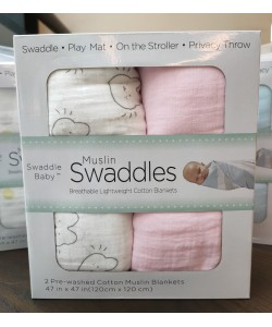 Swaddlers Baby Blanket Baby Blankets Muslin Swaddle Blankets 120 x 120 ( 2pk)