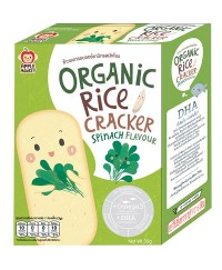 Apple Monkey Organic SPINACH Rice Cracker