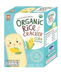 Apple Monkey Organic CORN Rice Cracker