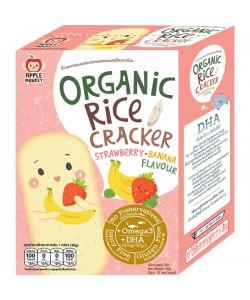 Apple Monkey Organic STRAWBERRY BANANA Rice Cracker