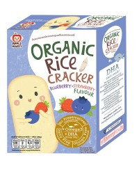 Apple Monkey Organic Blurberry/Strawberry Rice Cracker