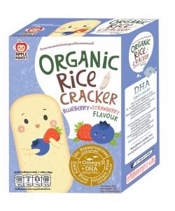 Apple Monkey Organic Blurberry/Strawberry Rice Cracker