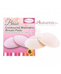 Autumnz Basic Contoured Washable Breast Pads (6pcs)