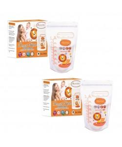 Autumnz - Double ZipLock Breastmilk Storage Bag (28 bags) *10oz*