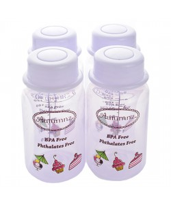 Autumnz - B/milk Storage Bottles (4 btls) - Lilac Sweeties