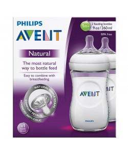 Philips Avent Natural Bottle 9oz / 260ml x 2 (Twin Pack)