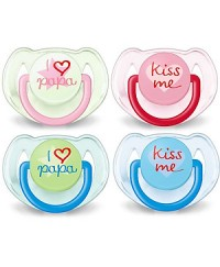 Philips Avent: I Love Papa Silicone Soothers (6-18m) TWIN PACK