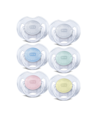 Philips Avent Translucent Baby Soothers (0-6m) TWIN PACK