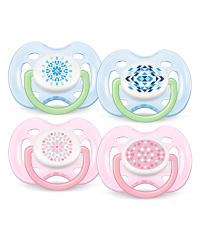 Philips Avent Free-Flow Contemporary Soothers (0-6m) TWIN PACK