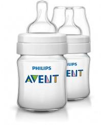 Philips Avent Classic+Feeding Bottle 4oz/125ml -TWIN PACK