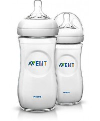 Philips Avent Bottles Natural 11oz/330ml (PP) -TWIN PACK