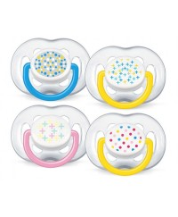 Philips Avent Free-Flow Contemporary Soothers (6-18m) TWIN PACK