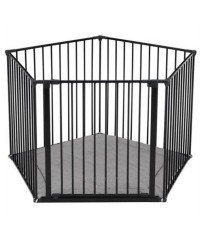 Babydan Park A Kid Playpen with Base - 5 panel (Black)