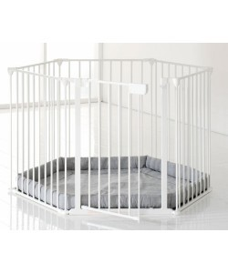 ffc4b1fc2da5 Babydan Park A Kid Safety Playpen Gate with Base - 5 panel (white ...