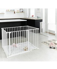 Babydan square playpen w/mat (white)