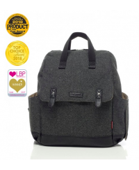 Babymel London Robyn Convertible Backpack Tweed Grey