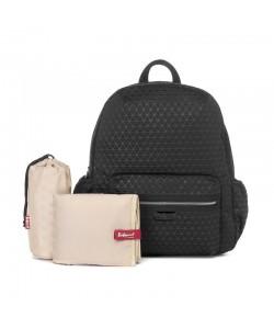 Babymel London Luna Ultra-Lite Backpack -Black Scuba Emboss