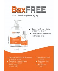 BaxFREE Hand Sanitizer Water Type 500ml ( 70% Alcohol)