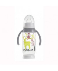 Beaba Round Base bottle with handles Bunny 240 ml