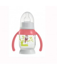 Beaba Round Base bottle with handles Bunny 120 ml