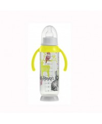 Beaba Round Base bottle with handles Bunny 330 ml