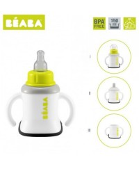 Beaba 3-in-1 Evolutive Training Cup - Neon/Nude