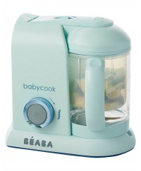 Beaba Babycook 4-in-1 Baby Food Maker BS Plug ( Aquamarine Blue)