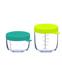 Beaba Conservation Superior Glass Jar Set ( 150ml+250ml)