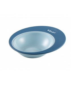 "Beaba Training plate ""Ellipse"" blue / nude"