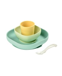 Beaba Silicone meal set (4 pcs) - YELLOW