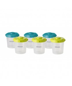 Beaba Set of 6 portions clip 2nd age 200 ml