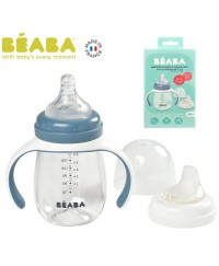 Beaba 2 in 1 Learning cup(210ml) - WINDY BLUE(new)