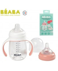 Beaba 2 in 1 Learning cup(210ml) - VINTAGE PINK(new)