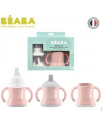 Beaba 3-in-1 Evolutive Training Cup - Pink (New)