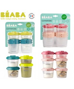 Beaba Set of 6 portions clip 1st age 60ml and 120ml