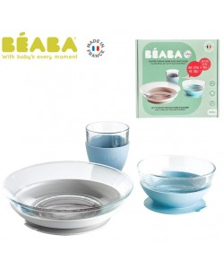 Beaba Duralex Glass Meal Set With Soft Protective Suction Pad - Jungle