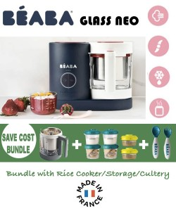 Beaba Babycook Neo Glass 4 in 1 Steam Cooker & Blender- Limited Edition (NEW) SAVE COST BUNDLE