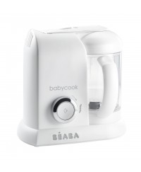 Beaba Babycook 4-in-1 Baby Food Maker BS Plug ( White/Silver)