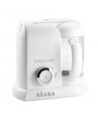 Beaba Babycook 4-in-1 Baby Food Maker EU Plug ( White/Silver)