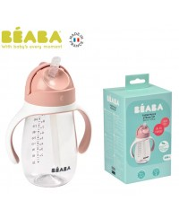 Beaba 300ml Straw Cup - VINTAGE  PINK(new)