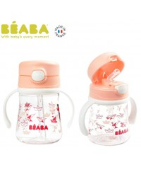 Beaba Straw Cup (240ml)-Pink