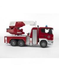Bruder Scania R-Series Fire Engine Slewing Ladder WaterPump L&S Module
