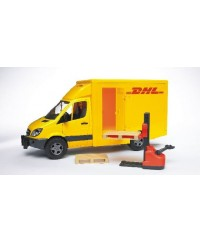 Bruder MB Sprinter DHL W/ Hand Pallet Truck and 2 Pallets