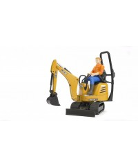 Bruder JCB Micro Excavator 8010 CTS & Contruction Worker